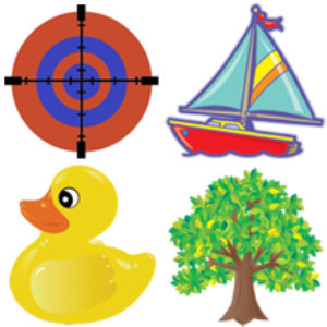 Potty Targets (Boat, Duck, Tree, Target) – Pack of 12