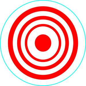 Red & White Target – Pack of 12